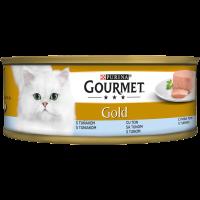 PURINA® GOURMET® Gold Котки в зряла възраст, Пастет, Риба Тон, Мокра храна, Консерва, 85 g