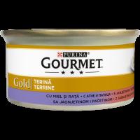 PURINA® GOURMET® Gold Котки в зряла възраст,Хапки в Пастет,Агне и Патица, Мокра храна, Консерва, 85 g