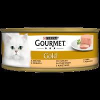 PURINA® GOURMET® Gold Котки в зряла възраст, Пастет, Пуйка, Мокра храна, Консерва, 85 g
