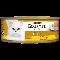 PURINA® GOURMET® Gold Котки в зряла възраст, Пастет,Пиле, Мокра храна, Консерва, 85 g