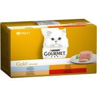 PURINA® GOURMET® Gold за котки в зряла възраст, Пастет, Асортимент, Мокра храна, Картонена кутия,4х 85 g