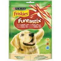 PURINA® FRISKIES® Dog Funtastix Лакомство за кучета в зряла възраст, Бекон и сирене , 180g
