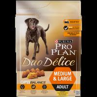 Пълноценна храна Pro Plan® DUO DELICE с Пиле за кучета в зряла възраст от средни и големи породи, суха храна, 2,5 kg