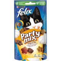 PURINA® FELIX® PARTY MIX Original Mix допълваща храна – лакомство с аромат на пиле, черен дроб и пуйка, 60g