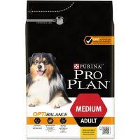 PURINA® PRO PLAN® Dog Medium Adult с OPTIBALANCE за кучета в зряла възраст от средни породи, суха храна, Пиле, 3kg