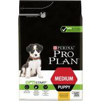 PURINA® PRO PLAN®Dog Medium Puppy с OPTISTART® за малки кученца от средни породи, суха храна, Пиле, 3kg
