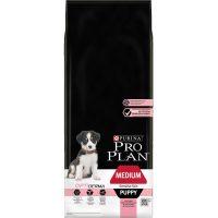 PURINA® PRO PLAN® Dog Medium Puppy с OPTIDERMA за малки кученца от средни породи с чувствителна кожа, суха храна, Сьомга, 12kg