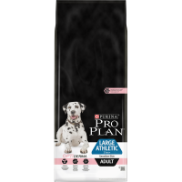 PURINA® PRO PLAN® Large Athletic с OPTIDERMA за кучета в зряла възраст от едри и атлетични породи с чувствителна кожа, суха храна, сьомга, 14kg