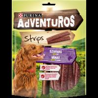 PURINA® ADVENTUROS ® Strips Лакомство за кучета в зряла възраст,Еленско, 90g