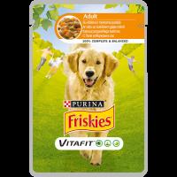 PURINA®FRISKIES® за кучета в зряла възраст,Пиле и Морков, Мокра храна,Пауч,100g