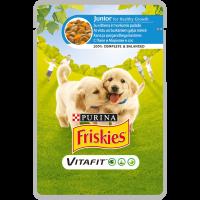 PURINA®FRISKIES® за малки кученца, Пиле и Морков ,Пауч, 100g