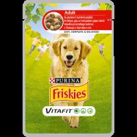 PURINA®FRISKIES® за кучета в зряла възраст, Говеждо и картофи, Мокра храна,Пауч, 100g