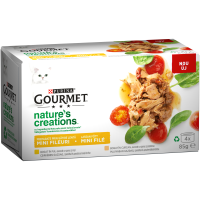 PURINA GOURMET™ Nature's Creations, с Високо съдържание на Пиле и Пуйка, Мокра храна, Картонена кутия, 4х 85g