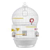 CAGE BALI WHITE – клетка за птици Ø43,5xH 68,5 см
