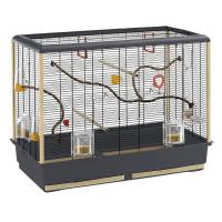 CAGE PIANO 6 BLACK – клетка за птици 87х46,5х70 см