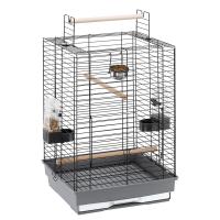 CAGE MAX 4 BLACK – клетка за птици 50х50х75 см без алуминиеви лайсни