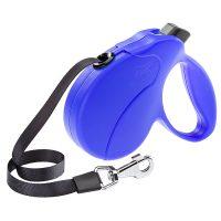 AMIGO EASY S TAPE BLUE – авт. повод за кучета лента 5 м./ max 15 кг.