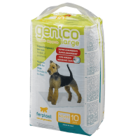 GENICO MEDIUM (x10)-абсорбиращи подложки (пелени) със самозалепваща се за подалента за бебета и за възрастни кучета-10бр. в пакет 60x60cm