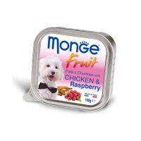 MONGE FRUIT Paté & Chunkies Chicken & Raspberry – Пастет и хапки с пиле и малини. – 100 gr