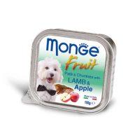 MONGE FRUIT Paté & Chunkies Lamb & Apple  100 гр- Пастет и хапки с агнешко и ябълки