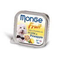 MONGE FRUIT Paté & Chunkies Pork & Pineapple  100 гр- Пастет и хапки със свинско и ананас