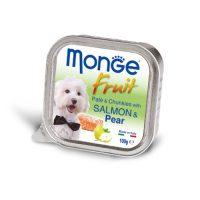 MONGE FRUIT Paté & Chunkies Salmon & Pear  100 гр – Пастет и хапки със сьомга и круши