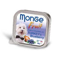 MONGE FRUIT Paté & Chunkies Turkey & Blueberry – Пастет и хапки с пуйка и боровинки – 100gr