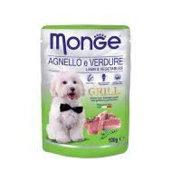 MONGE GRILL Chunkies Lamb & Vegetables   100 гр- Пауч хапки на грил с агнешко и зеленчуци
