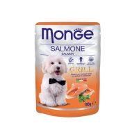 MONGE GRILL Chunkies Salmon  100 гр – Пауч хапки на грил със сьомга