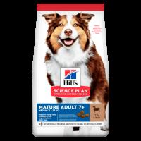 Hill's Science Plan Canine Mature Medium Adult с агнешко и ориз 14 кг– Пълноценна суха храна за кучета от средни породи в напреднала възраст, до 25 кг, над 7г.