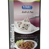 Dr.Clauder s Premium Pouches- телешко,пуйка в сос 100 gr