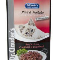 Dr.Clauder s Premium Pouches- говеждо и пуйка вжеле 100 gr