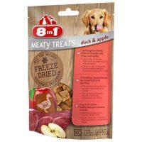 8in1 MEATY FREATS – Замразено беззърнено допълващо лакомство за кучета с патешко месо и ябълки