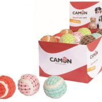 Цветна тенис топка, покрита с плат 62мм