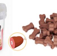 Лакомства за куче под формата на кокалчета с вкус на шунка