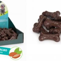 Лакомства за куче под формата на кокалчета с вкус на какао – 500г.