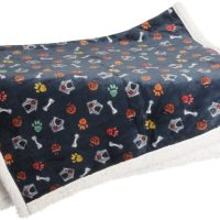 "Супермеко одеяло за кучета и котки ""Лапи и кости"" 120/130"