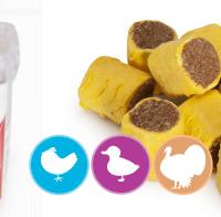 Лакомства за куче под формата на бисквитка с вкус на пилешко,патешко и пуешко месо