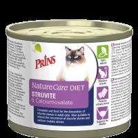 Prins VitalCare Diet Struvite & Calciumoxalate-Пълноценна,консервирана диетична храна за разграждане на струвитни камъни при котки-0.2кг