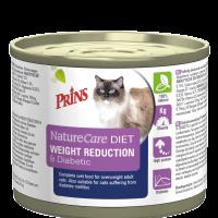 Prins VitalCare Diet Weight Reduction & DiabeticПълноценна,консервирана диетична храна за котки с наднормено тегло. Подходяща и за котки страдащи от захарен диебет-0.2кг