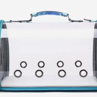 Транспортна чанта за домашни любимци 43x28x24.5 см, цвят син