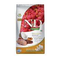 N&D DOG QUINOA SKIN&COAT QUAIL 2.5 KG с пъдпъдък
