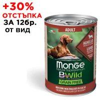 2614 Консерва Dog Bwild Grain Free Lamb 400g -агнешко с тиква и зеленчуци