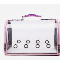 Транспортна чанта за домашни любимци 43x28x24.5 см, цвят розов