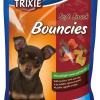 Trixie Soft Snack Bouncies – деликатесно лакомство с пилешко, агнешко и шкембе, подходящо за подрастващи кученца.75гр.