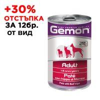 7859 Консерва хапки DOG GEMON Adult 415g -телешко и черен дроб /куче/
