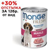 4465Консерва Dog Monge FRESH Adult Pork 400 g -за зряла възраст със свинско