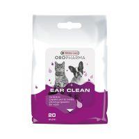 напоени с лосион кърпички за почистване на ушите на кучето и котето