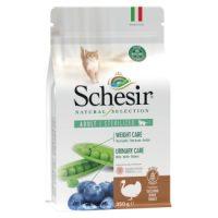 SCHESIR  Natural Selection суха коте за кастрирани с пуйка 4.5 кг