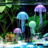 Медузи светящи за аквариум. Декорация медуза.